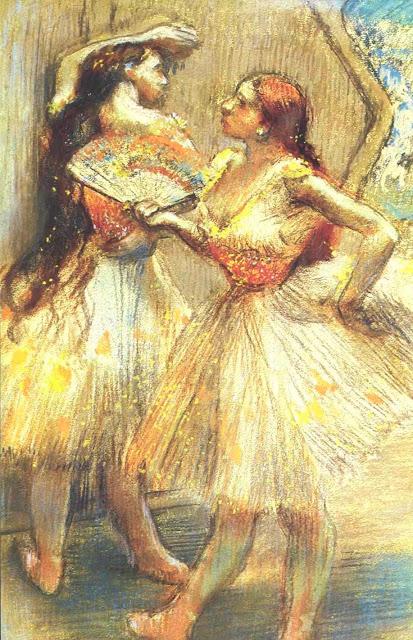 Эдгар Дега - Две танцовщицы