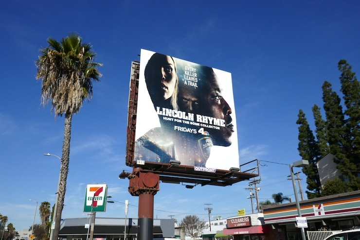Lincoln Rhyme TV series billboard