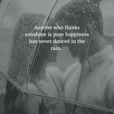Enjoying Rain Quotes images