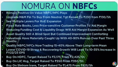 NOMURA ON NBFCs - Rupeedesk Reports