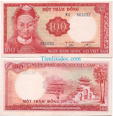100 đồng việt nam cộng hòa 1966