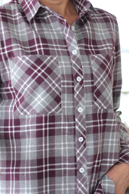 Mood Fabrics' plaid flannel Archer shirts - pockets