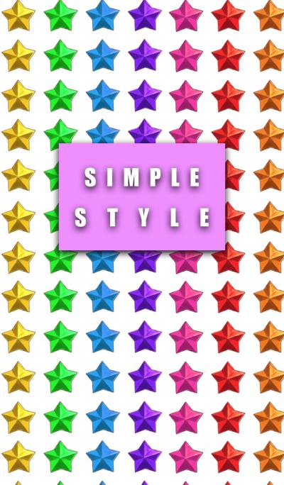 Rainbow color star style