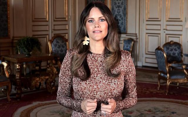 Rodebjer Acela swirl dress - raw umbra on garmentory. Princess Sofia wore Rodebjer Acela swirl dress