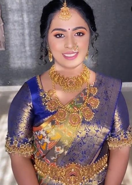 Bride in Lakshmi Bottu Haram