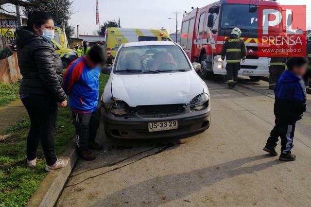 Osorno: Accidente de tránsito en el sector de Rahue