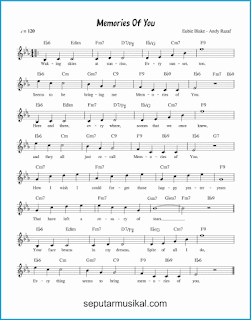 chord memories of you lagu jazz standar