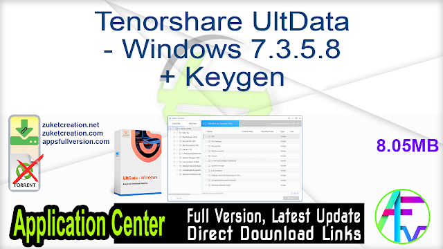 Tenorshare UltData – Windows 7.3.5.8 + Keygen