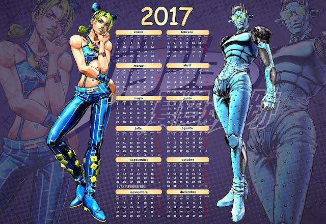calendar jojo jolyne cujoh stone free