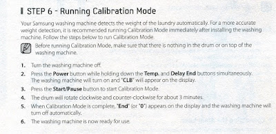 Samsung ecobubble calibration instructions
