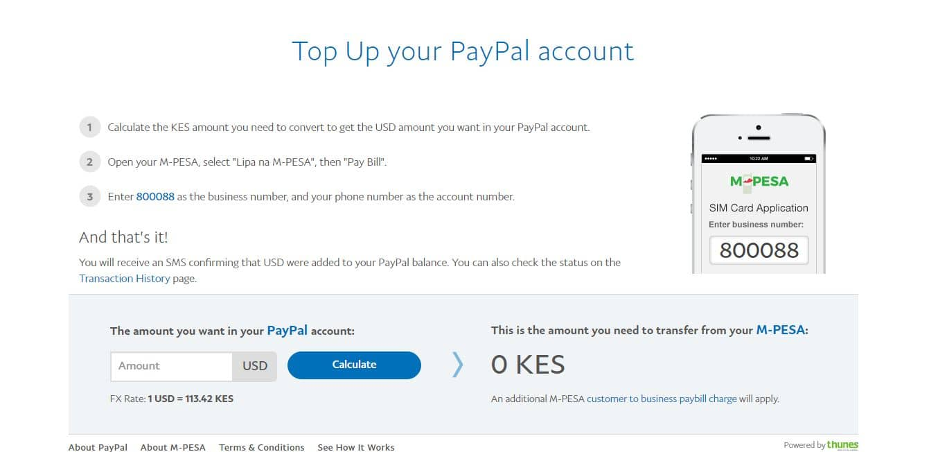 how to topup your paypal with mpesa