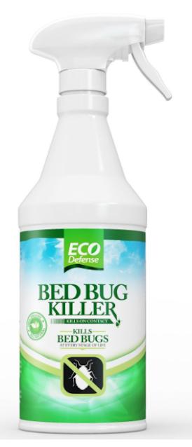 Eco Defense Bed Bug Killer, Natural Organic Formula Fastest, 16 oz
