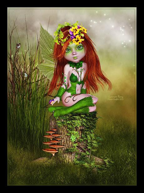 Digital Graffiti Summer Fairy
