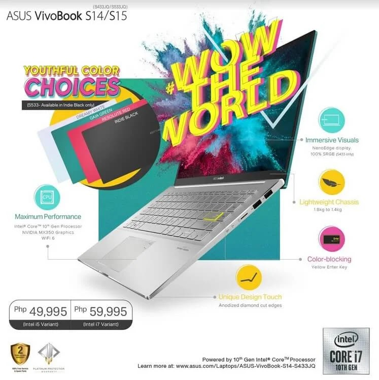 ASUS Outs New VivoBook S14 and VivoBook S15 in the Philippines, Price Starts at Php49,995