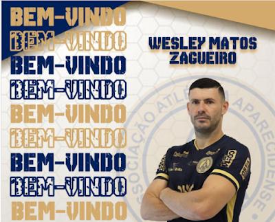 Aparecidense anuncia contratação do zagueiro Wesley Matos