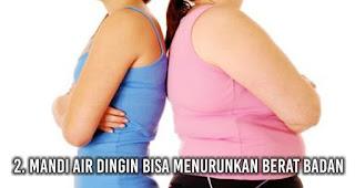 Mandi Air Dingin bisa Menurunkan berat badan