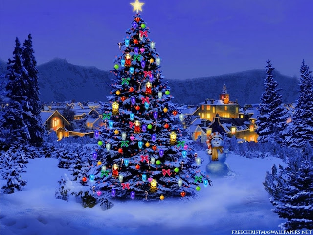 Merry Christmas Tree Wallpaper HD Free Download 2015