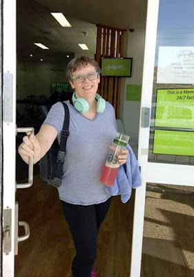 Louanne with Phytosport After Workout Drink in tow!
