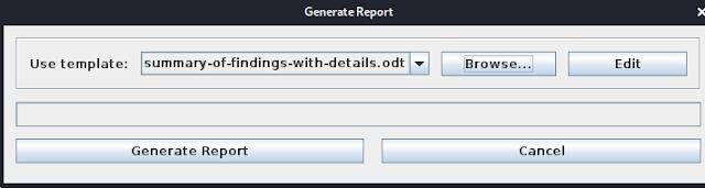 Generating Report