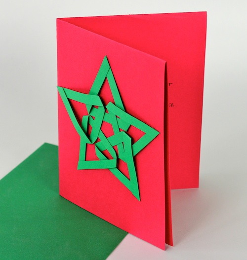 Ashbee Design Diy Christmas Cards Woven Paper Designs