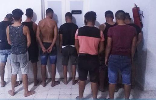 المهدية : القبض على مجموعة من الشبان عمدوا إلى سرقة مركب للقيام بعملية حرقة