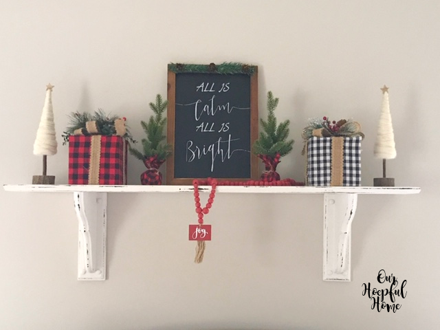 All is Calm All Is Bright Christmas wall art