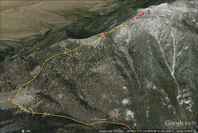 Ibapah Peak map