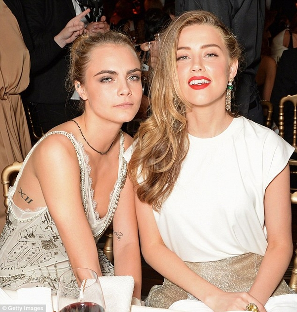 Amber Heard with Cara Delevingne