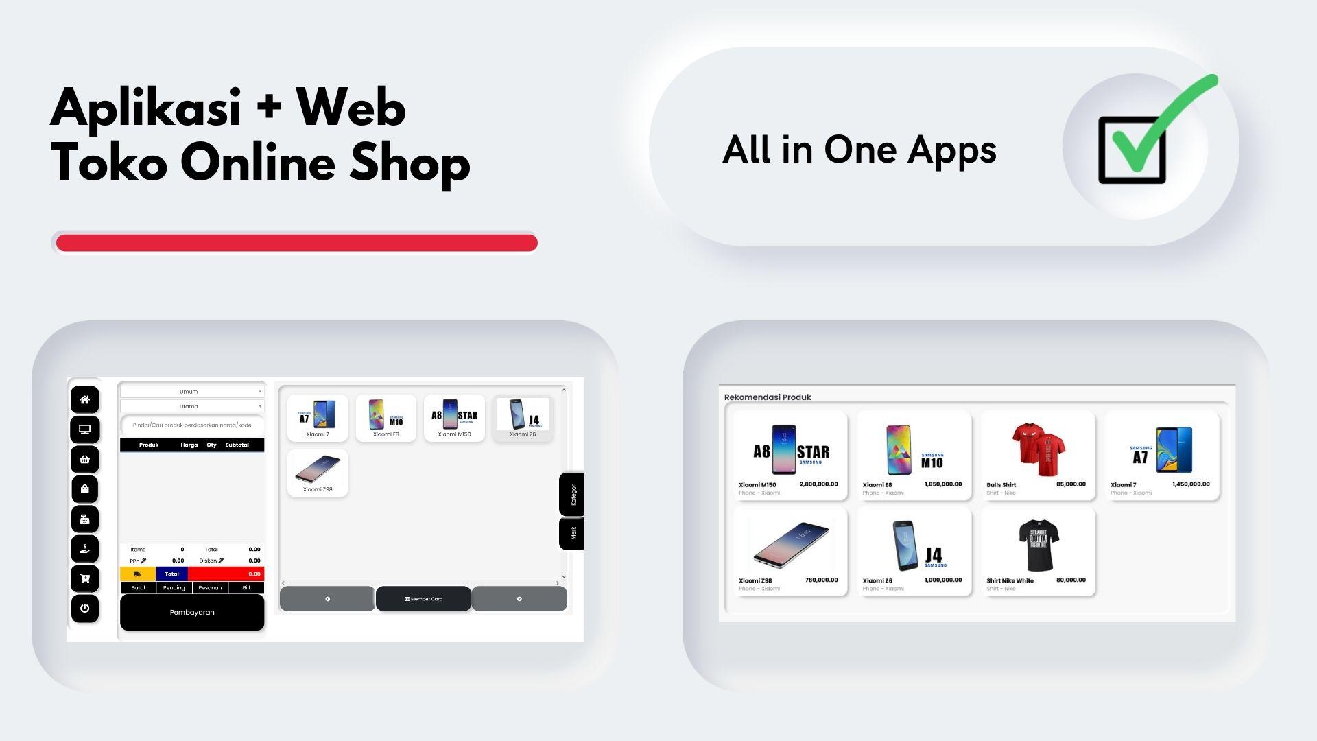 Pembuatan website toko online shop aplikasi kasir