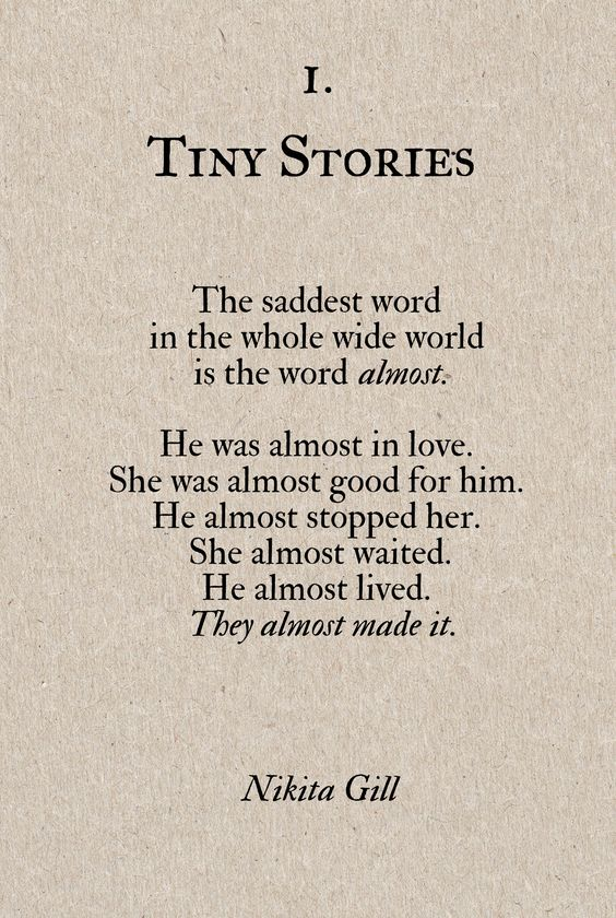 the saddest word.. almost