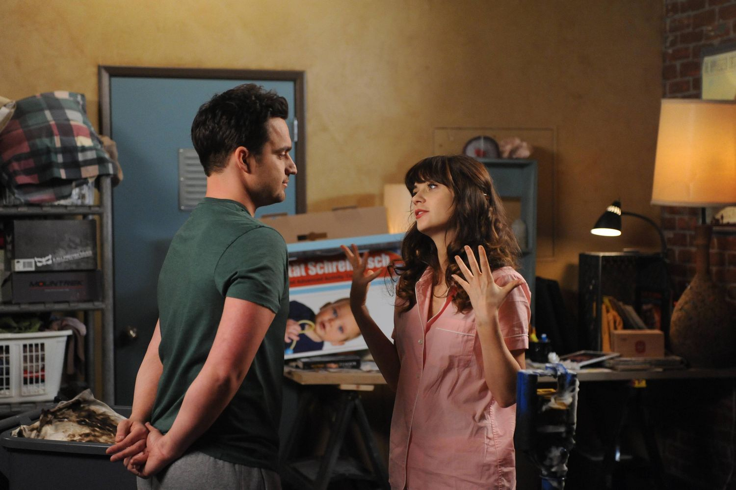 Jess y Nick discuten en New Girl