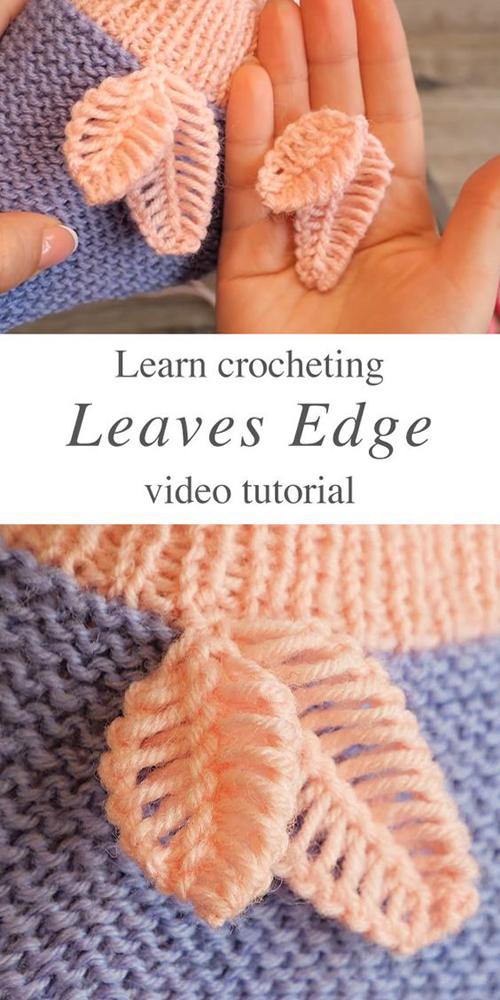 Crochet Leaves Edge - Tutorial