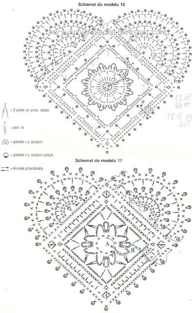 Urocze serduszka na szydełku, na każdą okazję - schematy i wzory DIY