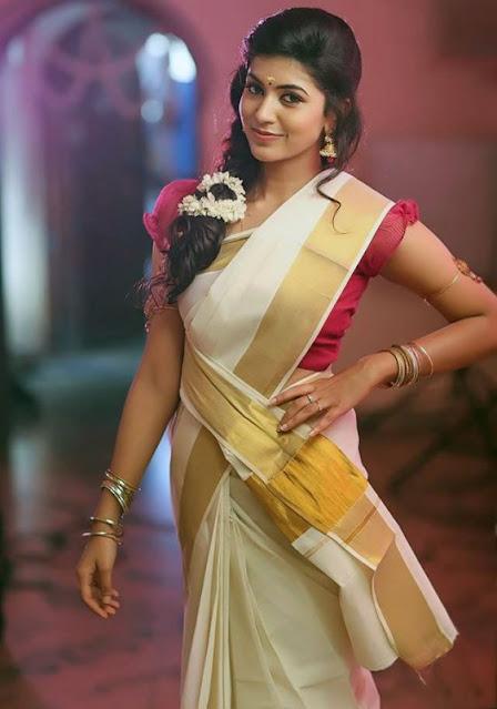 Tamil Actress Anju Kurian Latest Pics In Saree Actress Trend