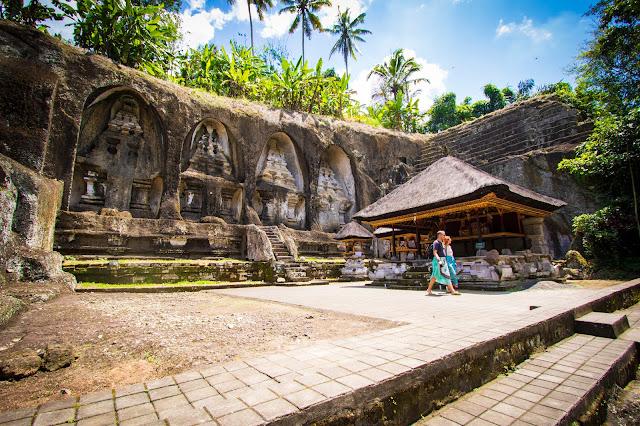 Tombe reali del Pura Gunubg Kawi a Tampaksiring-Bali