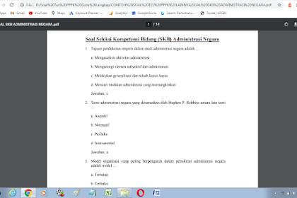 Contoh soal tes P3K administrasi negara dan Kunci Jawaban