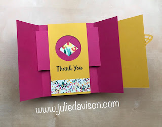 Stampin' Up! Abstract Impression Gate Fold Shutter Card + VIDEO ~ www.juliedavison.com