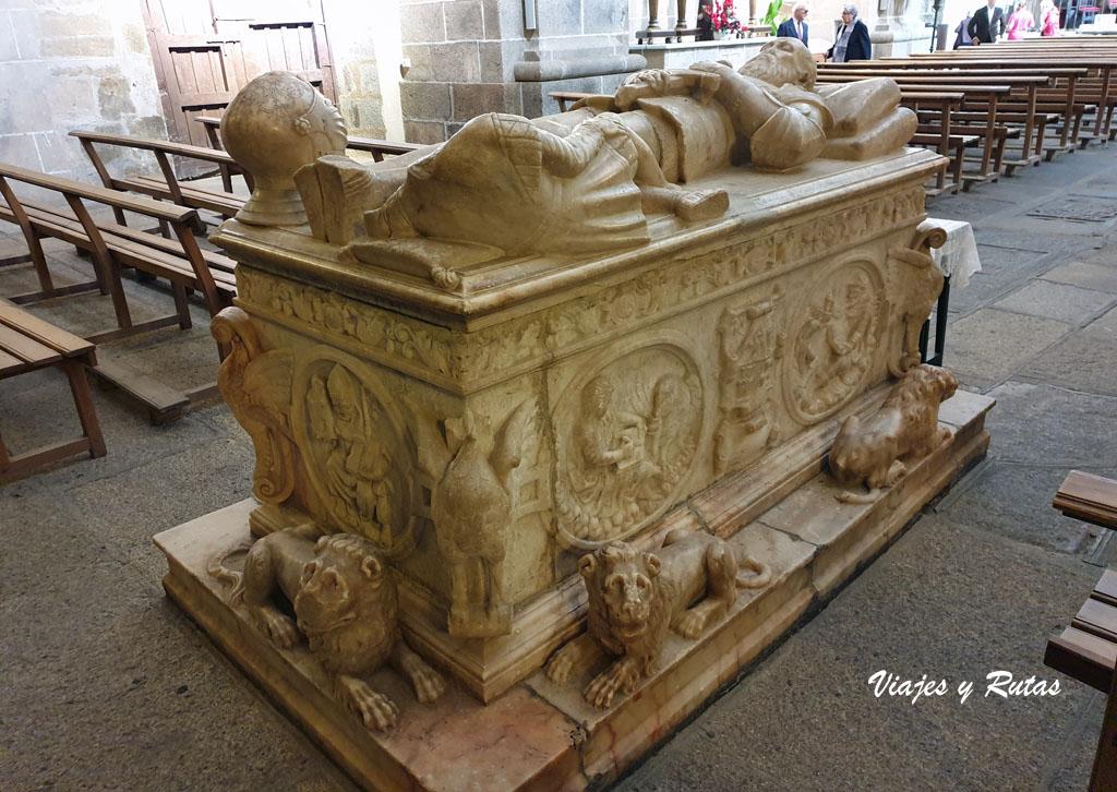 Sepulcro de Frey Antonio Bravo de Jerez, Sta Mª,Almocóvar de Alcántara