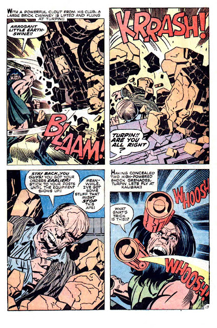 New Gods v1 #8 dc bronze age comic book page art by Jack Kirby