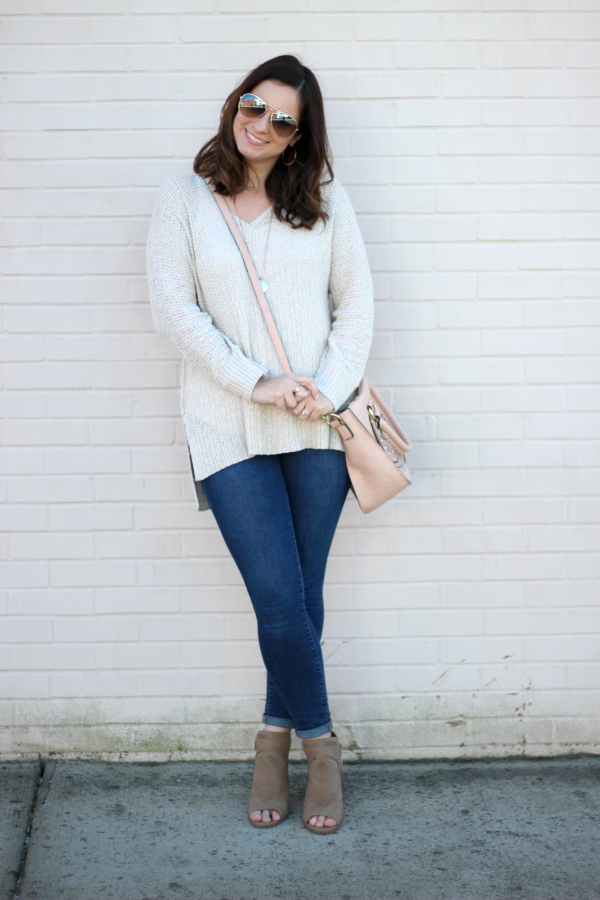 spring outfit, transitional sweater, what i wore, casual style, north carolina blogger, mom style, target finds