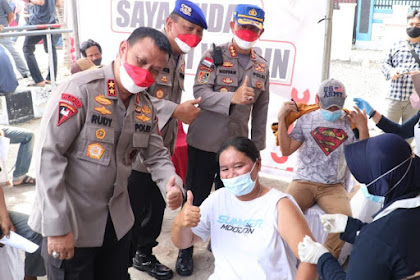 Kapolda Banten Apresiasi Pelaksanaan Vaksinasi Massal dan Bakti Sosial Alumni Akpol 94