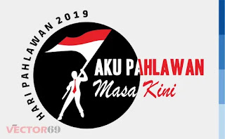 Logo Hari Pahlawan 2019: Aku Pahlawan Masa Kini - Download Vector File EPS (Encapsulated PostScript)