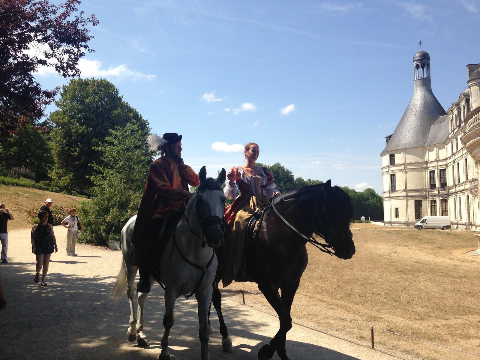 zamek w Chambord, inscenizacja pod zamkiem