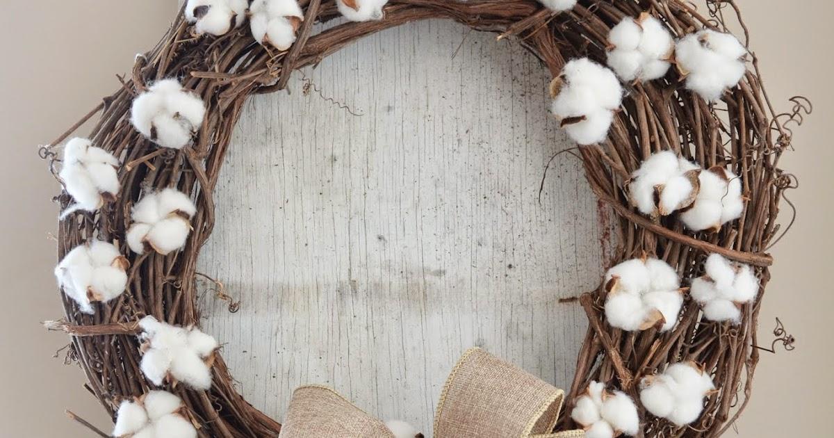 Cotton Wreath A Mrs Among Magnolias