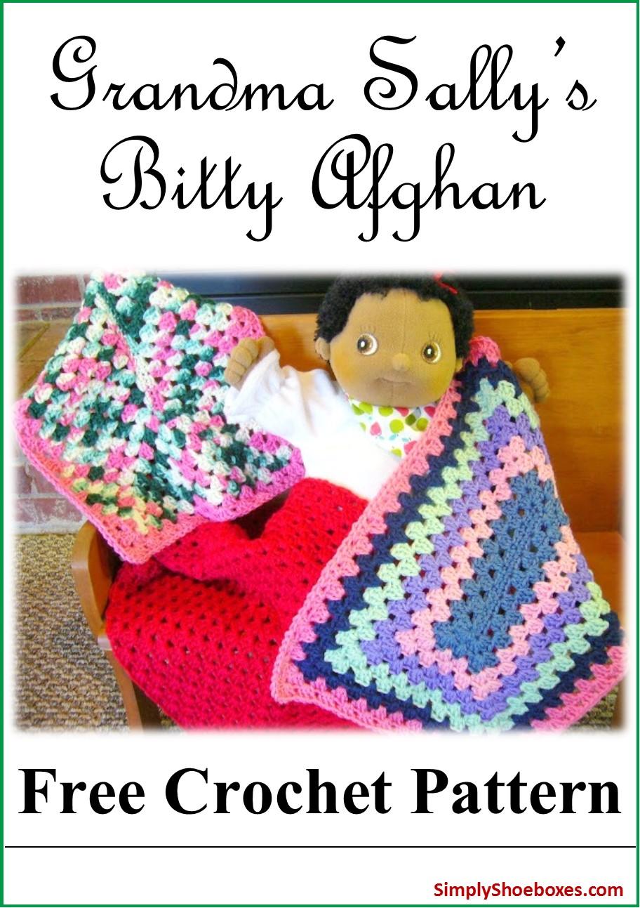 Simply Shoeboxes Grandma Sallys Bitty Afghan Free Crochet