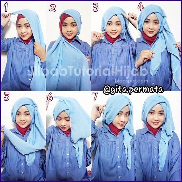 style tutorial hijab segi empat simple 2016 terbaru