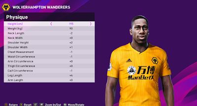 PES 2020 Faces Willy Boly by Rachmad ABs