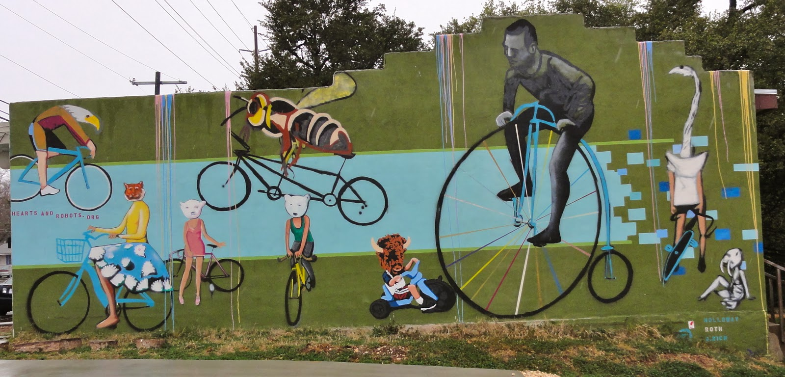 Austin Mural Bicycles: 14th & Chestnut