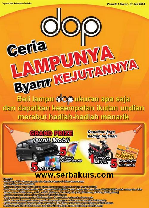 Promo Undian Berhadiah Mobil dan Gadget dari dop