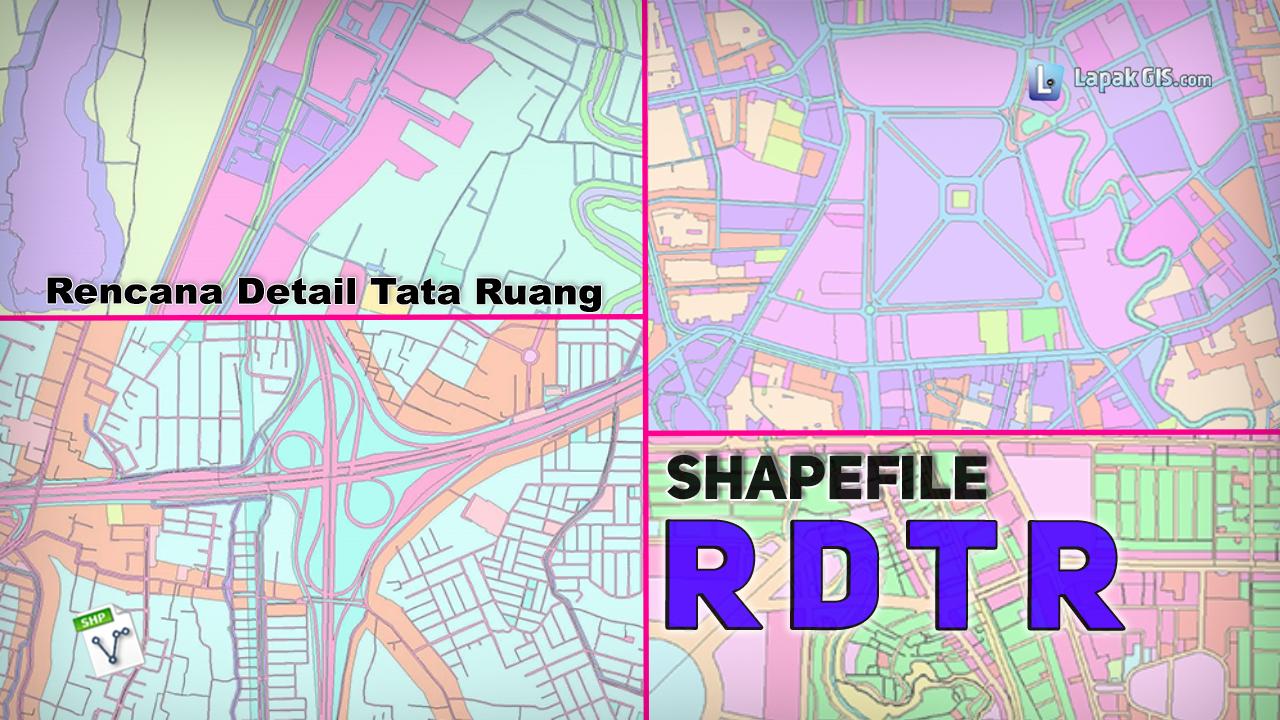 Shapefile RDTR Kabupaten atau Kota Indonesia